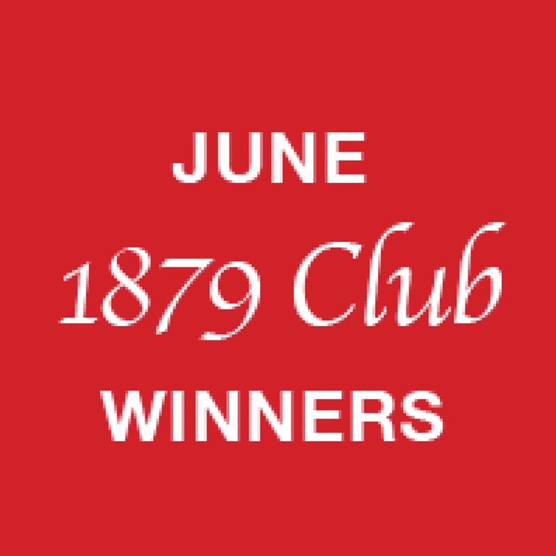 1879 Club June winners