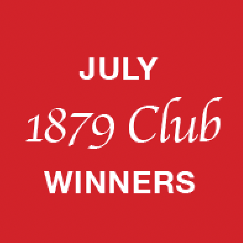 1879 Club July winners
