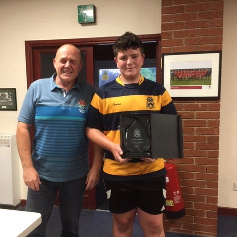 Well done - Luke Linton, Young Volunteer of the season 2019/20