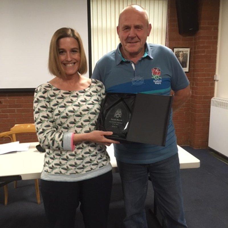 Well done Sarah Morris - Mini & Junior volunteer of the season 2018/19