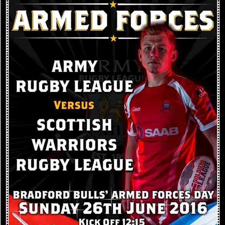 Bradfords Bulls' Armed Forces Day