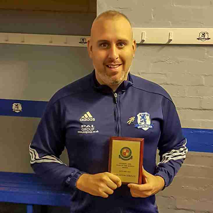 """Mr Darlaston and his team help Darlaston Town (1874) secure January """"Team of the Month"""" Award"""
