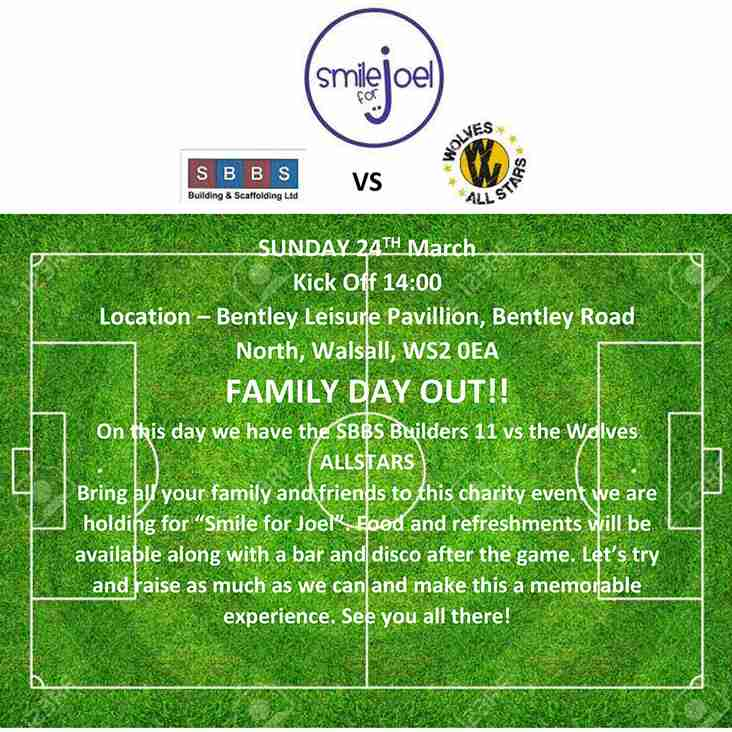 """Wolves Allstars charity match for local charity """"Smile for Joel"""" at the Paycare Ground"""