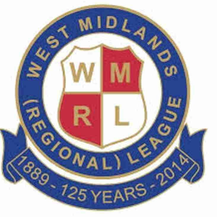 West Midlands (Regional) League Release August's Fixtures