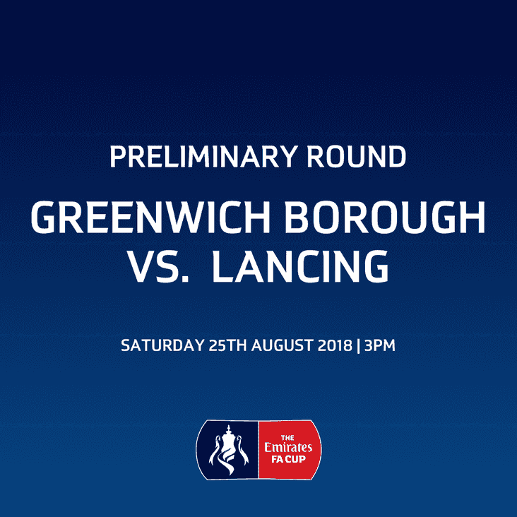 Lancers away to Greenwich Borough in the FA Cup