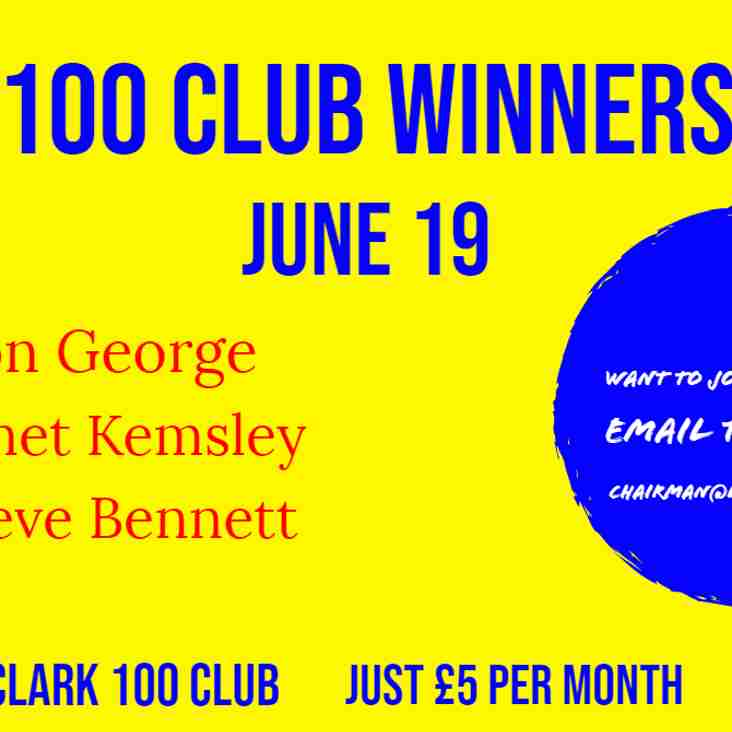 100 Club: June Winners