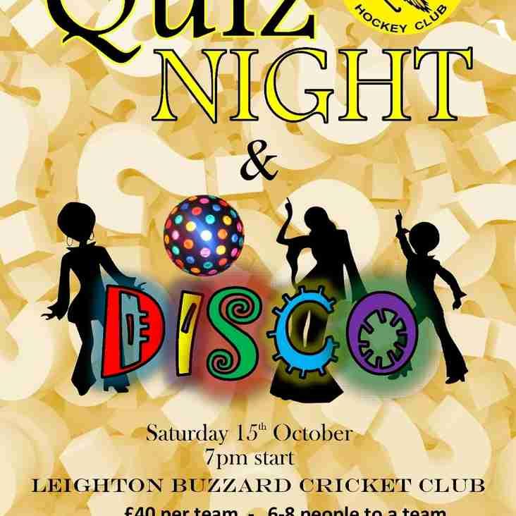 Quiz night and Disco