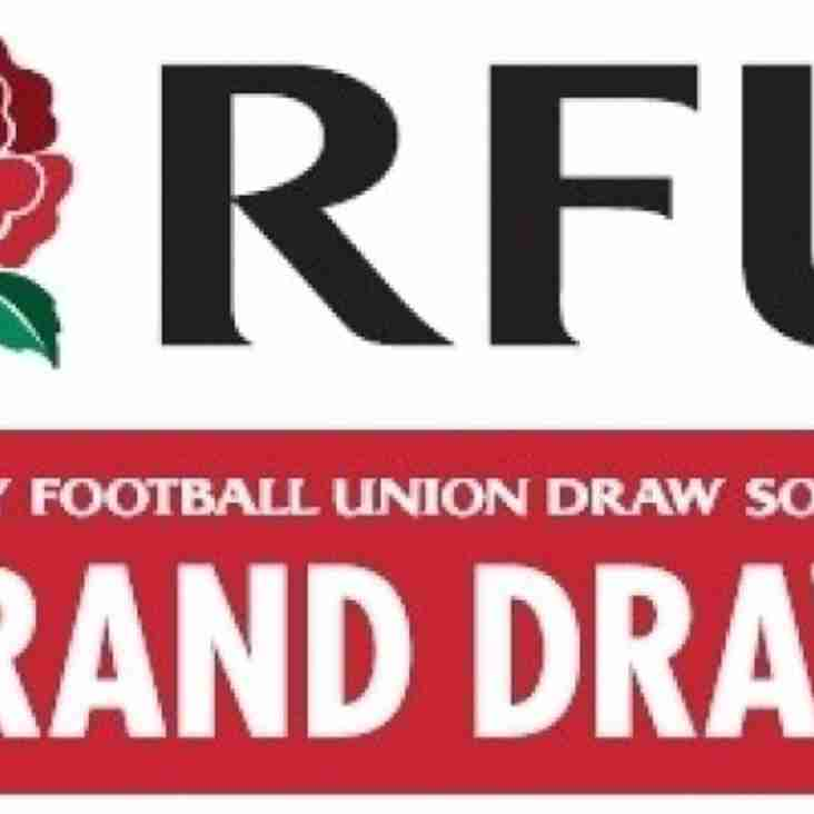 RFU Grand Draw - get your tickets in, as we have a final push in February
