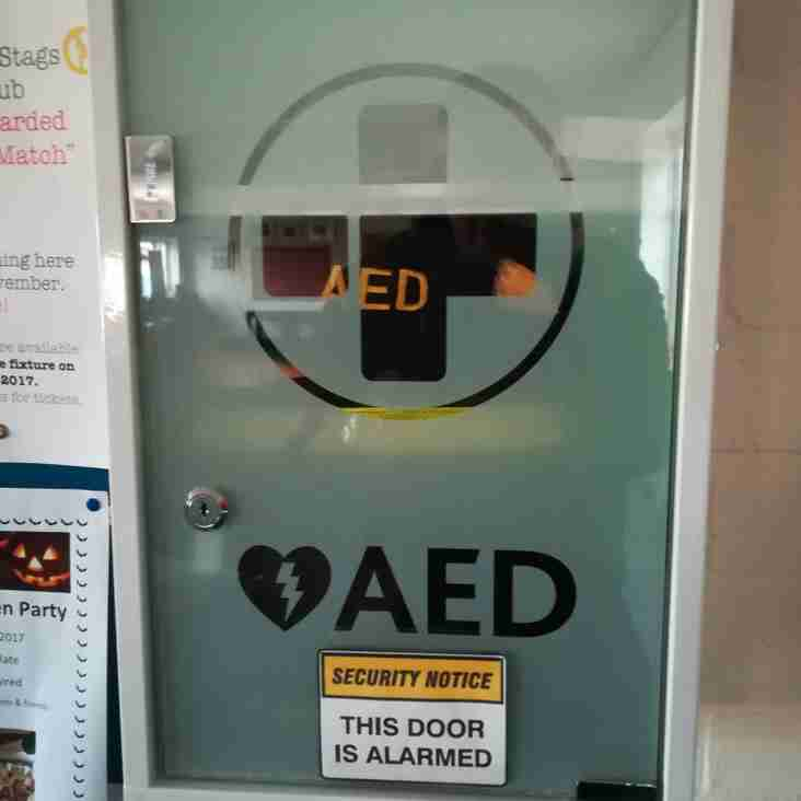 New Defibrillator at the Clubhouse