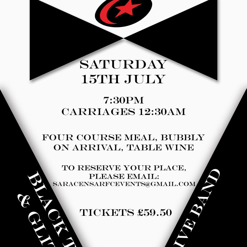 Saracens Amateur RFC Summer Ball - Saturday July 15th 2017