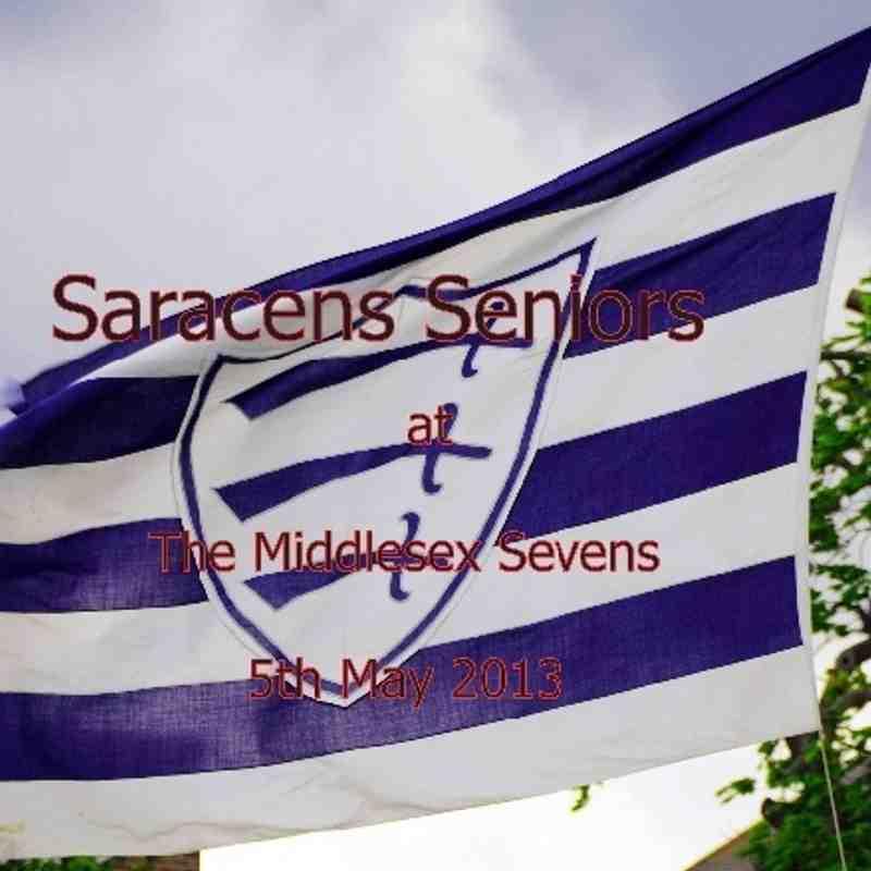Saracens Senior Squad at the Middlesex 7's