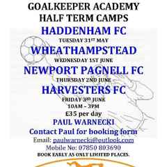 HALF TERM CAMPS - JUST4KEEPERS INTERNATIONAL GOALKEEPER ACADEMY