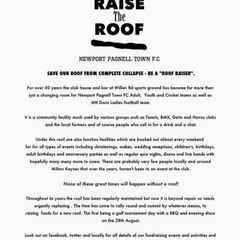NEWS FLASH ! Raise the Roof update !!!