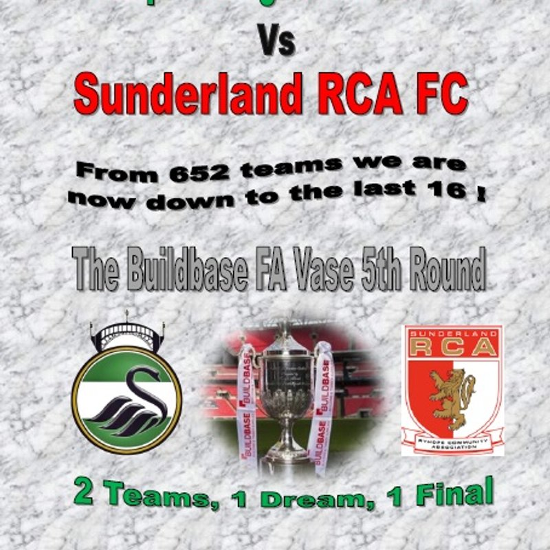 The FA Vase 5th Round - Newport Pagnell Town FC vs Sunderland RCA FC