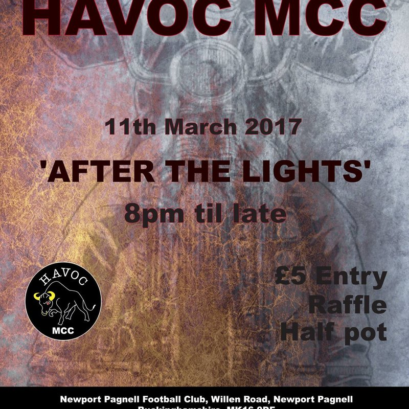 Rock Night Part 2 - HAVOC MCC Present 'After The Lights' - 11th March 2017
