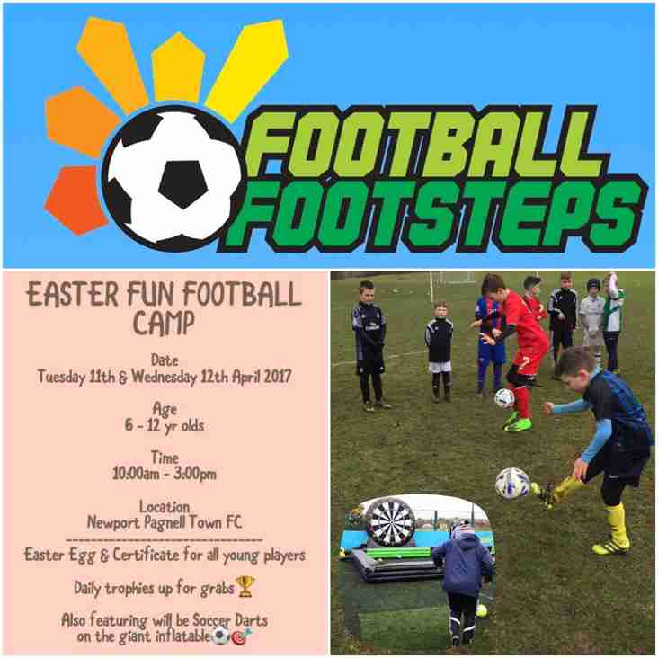 FOOTBALL FOOTSTEPS Easter Football Fun Camp.