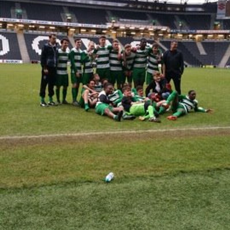 Newport Pagnell Town Lions Under 18s win the League Cup!