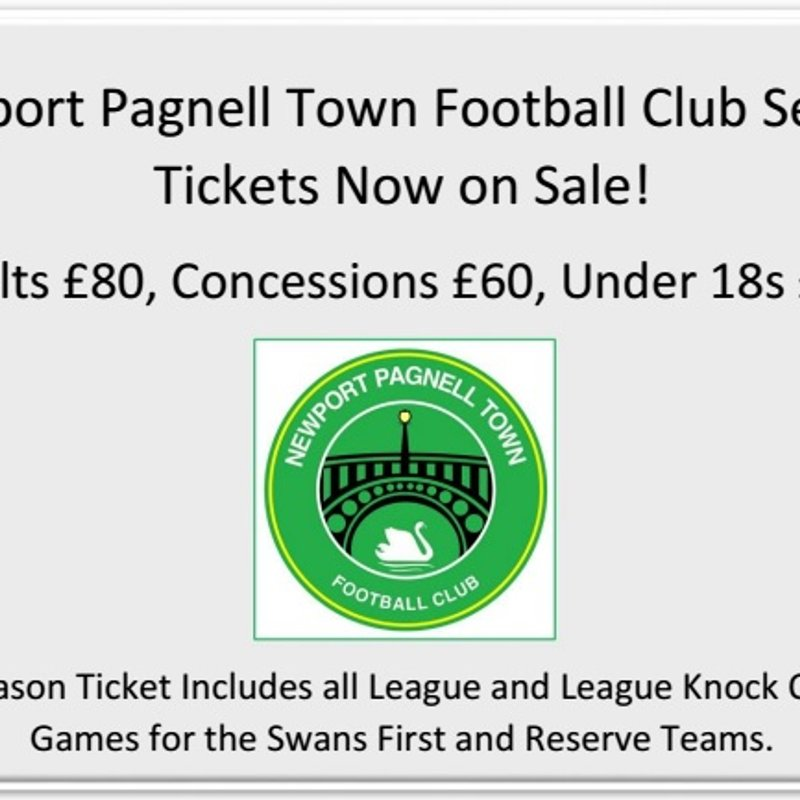 Newport Pagnell Town Football Club Season Tickets Now on Sale!