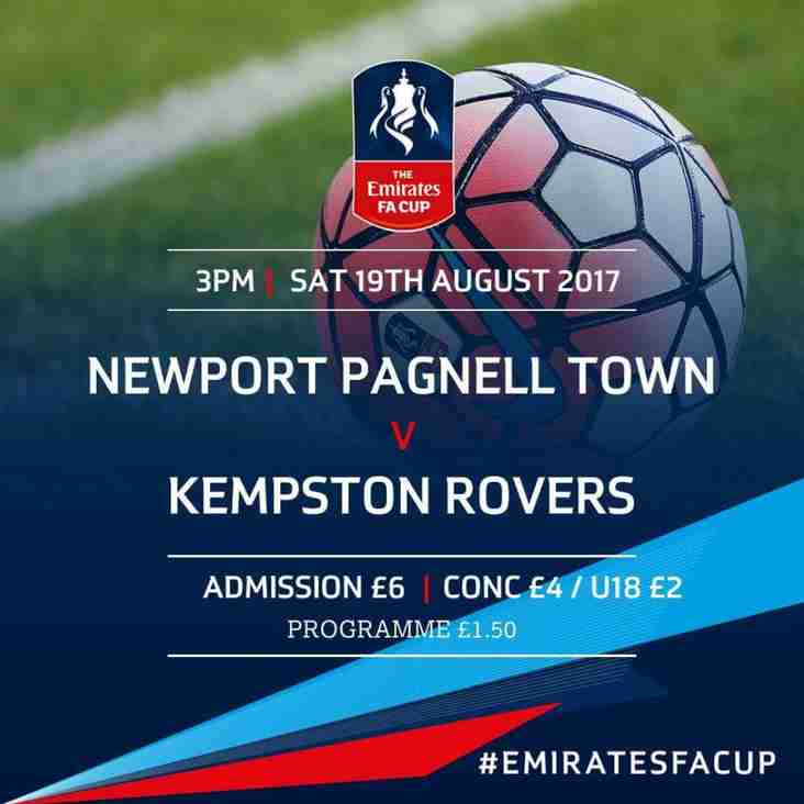 The Swans vs Kempston Rovers - FA Cup - Sat 19th Aug - KO 3pm