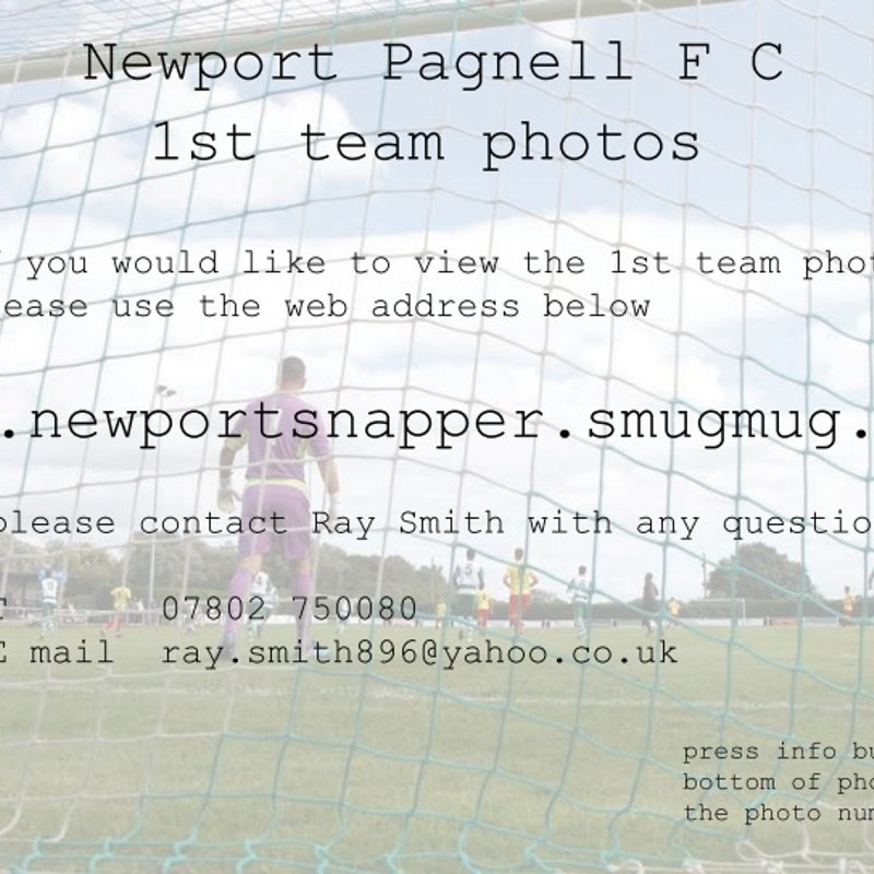 NPTFC 1st Team Photos from matches available in print