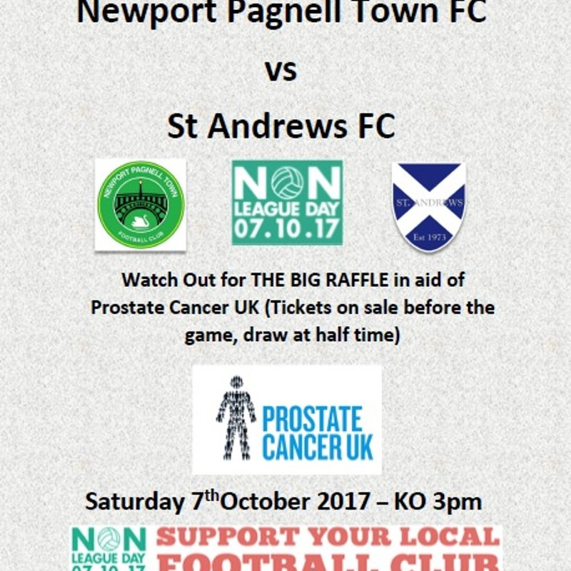 Non League Day - Swans vs St Andrews - 7/10/17 - Plus the BIG RAFFLE !!!!