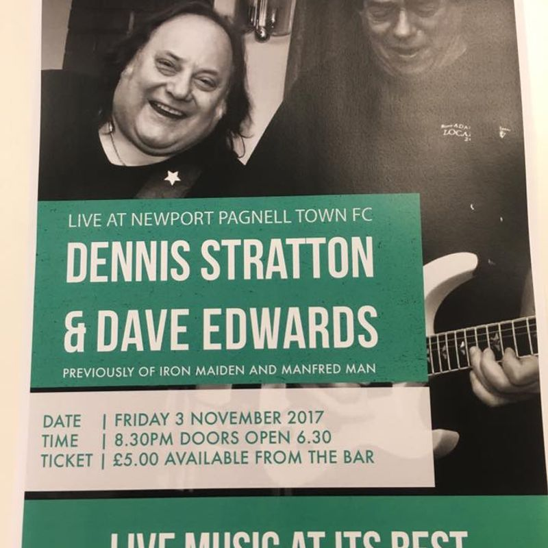 Live at NPTFC - Dennis Stratton & Dave Edwards performing Rock Covers - Friday 3rd November