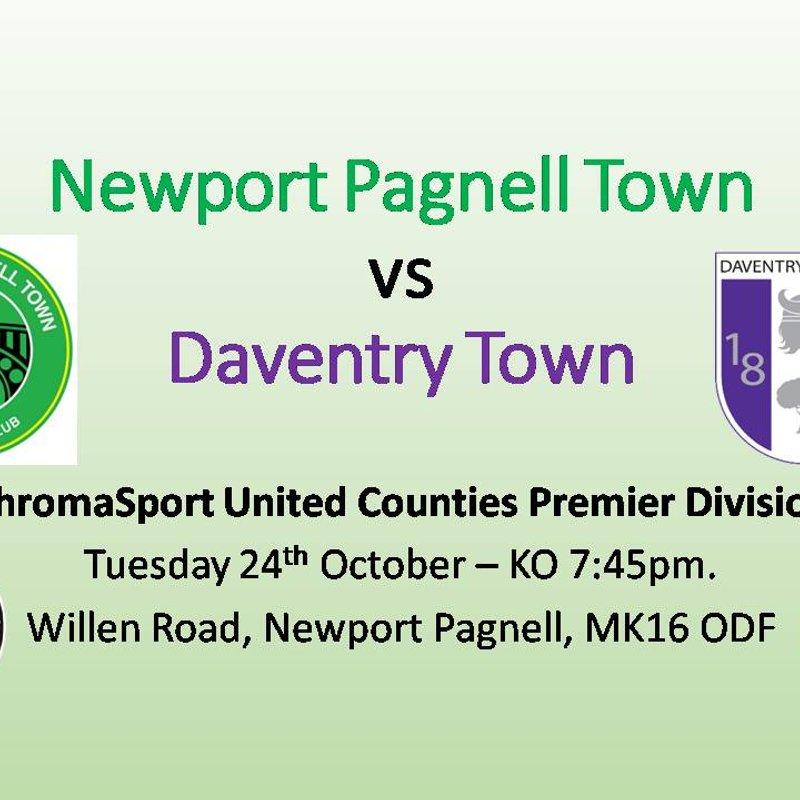Swans vs Daventry Town - ChromaSport UCL Premier Division - Tues 24th Oct - KO 7:45pm