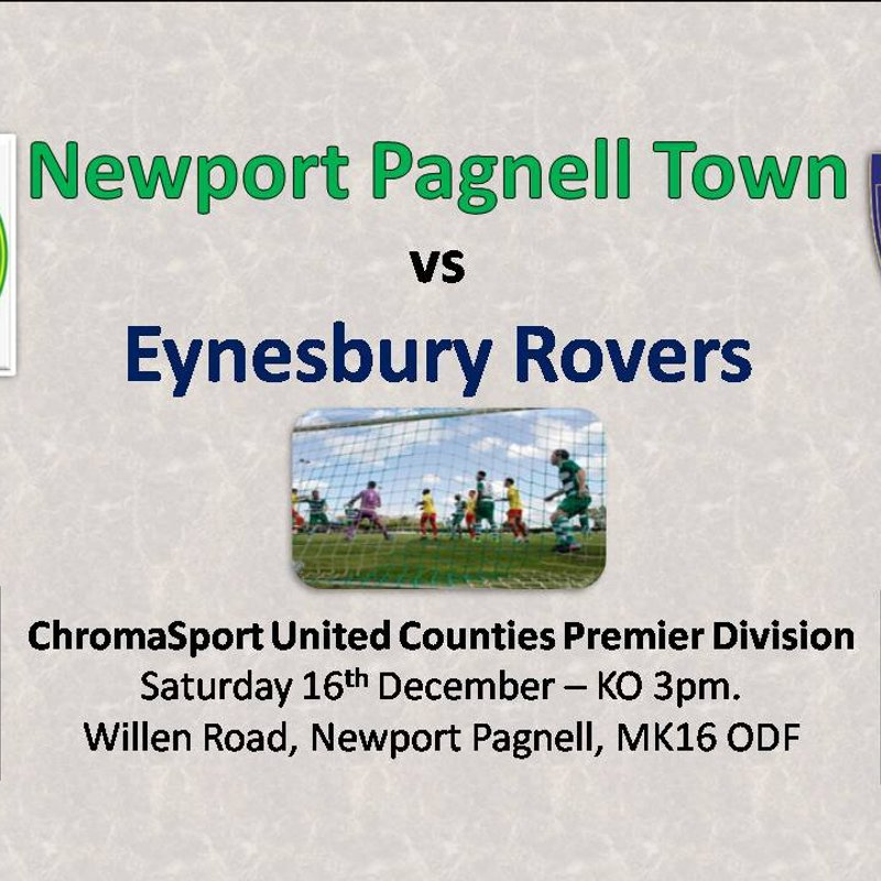 Next game at Willen Road! Swans vs Eynesbury Rovers - Saturday 16th December - KO 3pm