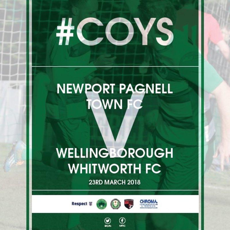 Friday Night Football at Willen Road - Swans vs Whitworths - Fri 23rd March - KO 7:45pm