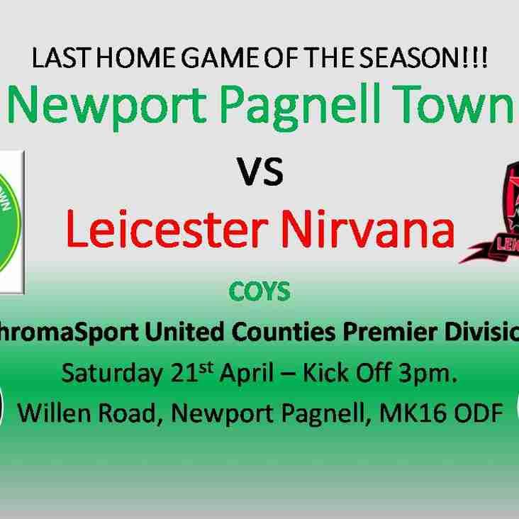 Swans vs Leicester Nirvana - Sat 21st April - KO 3pm - ChromaSport UCL Prem Division