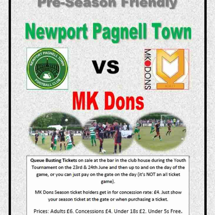 Coming to Willen Road ---> Swans vs MK Dons - Saturday 7th July. KO 12.30pm!