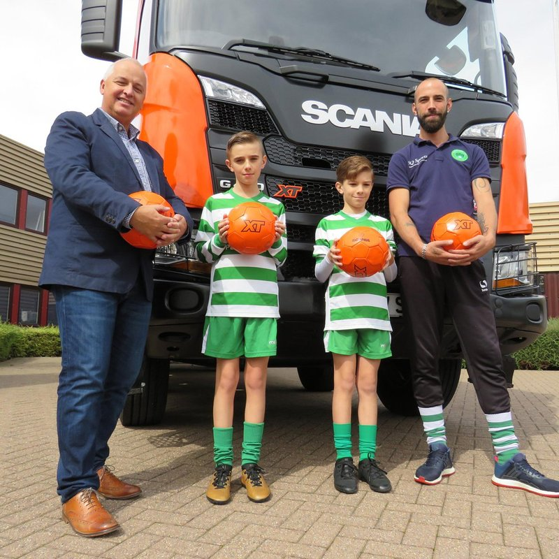 A BIG Thank you to Scania UK for the donation of the XT Footballs for our youth teams.