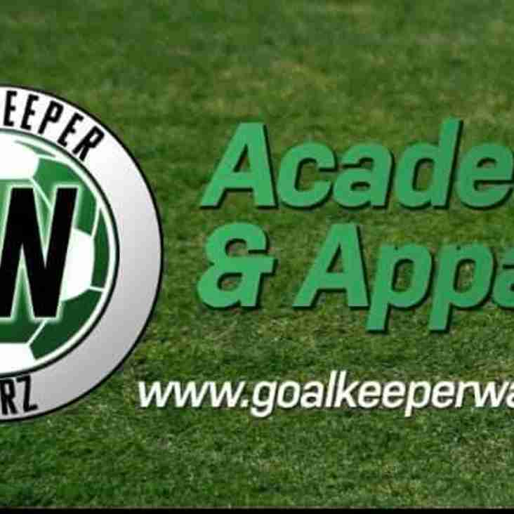 Some more great news for the u11 Lions, Goalkeeper Warz has just signed up to be our training kit sponsor this season