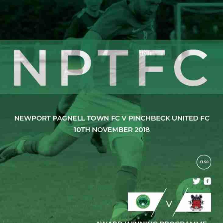 Swans vs Pinchbeck United - Sat 10th Nov - KO 3pm
