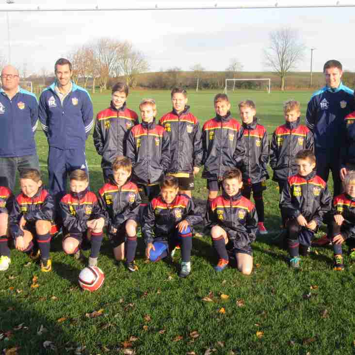 Generous donation means it's all smiles for the U11s Blues