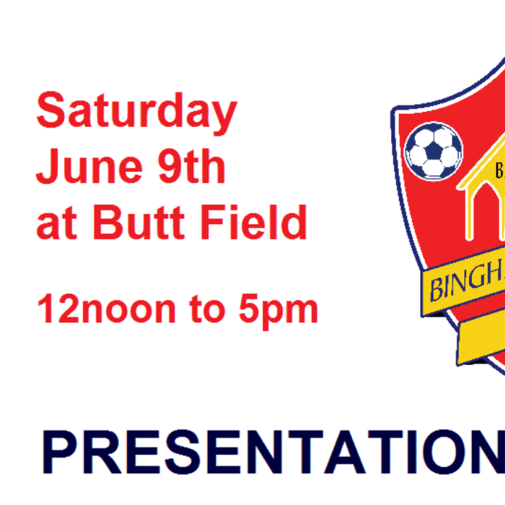 Presentation Day 2018 - Saturday 9th June