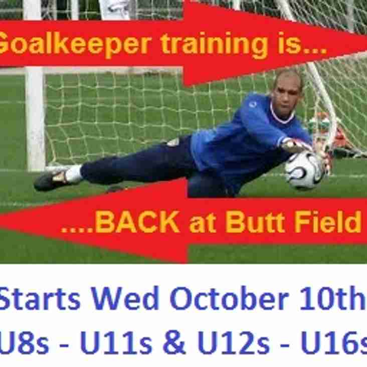 Goalkeeper training is back!