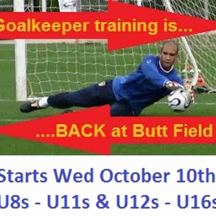 Goalkeeper training is back!