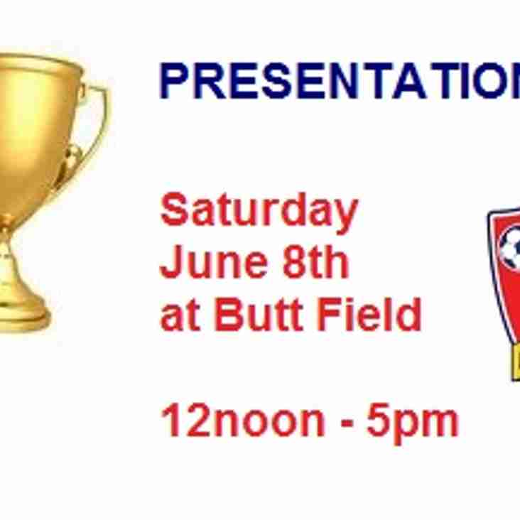PRESENTATION DAY - Saturday June 8th 2019