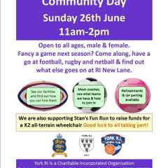 York RI NEW LANE Community Day 26th June