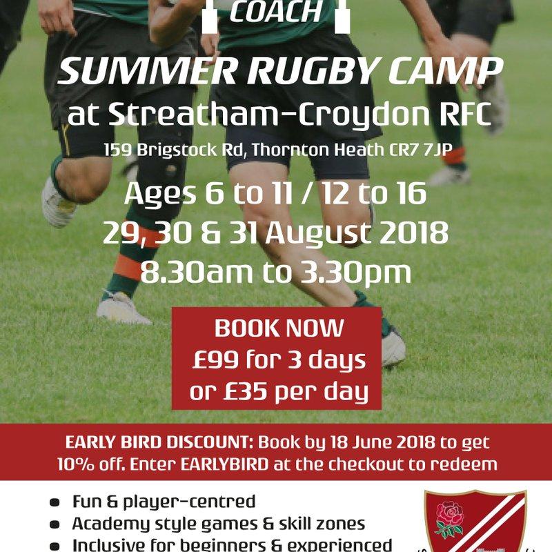 Streatham-Croydon RFC - Summer Rugby Camp