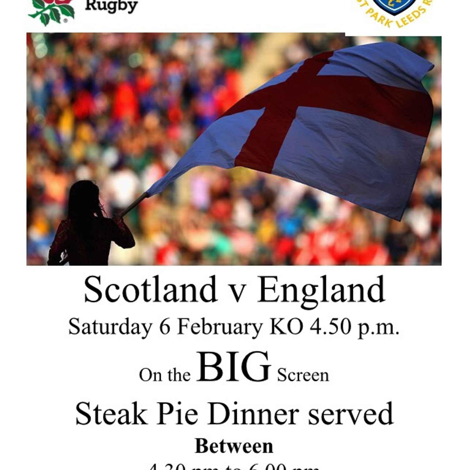 Scotland v England on the BIG screen