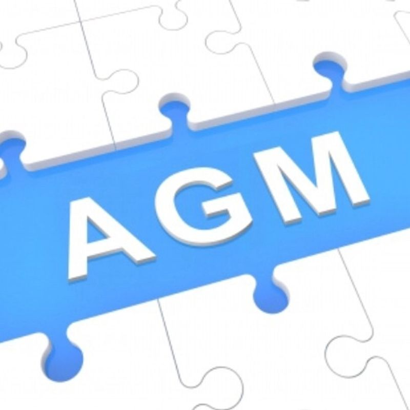 AGM is on Weds 28th June at 8pm  - full agenda here