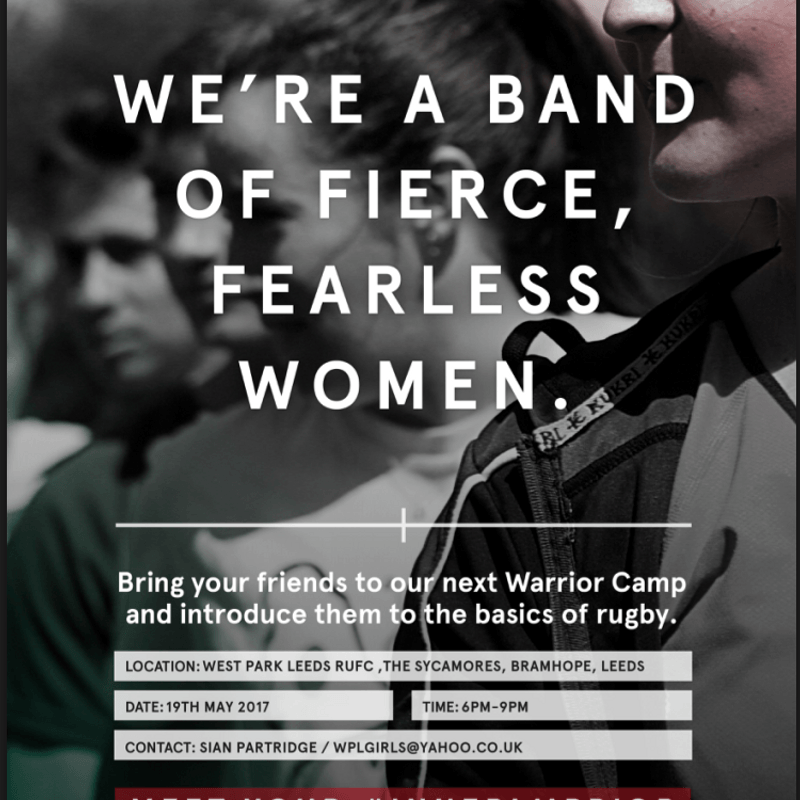 Girls & Ladies - Rugby Taster Session 19th May at 6pm