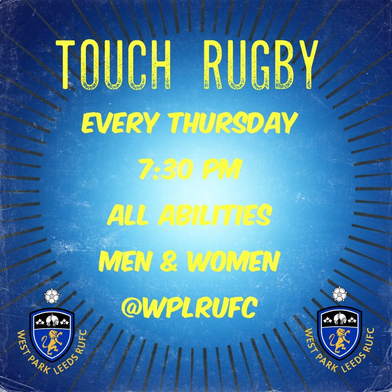 Men & Women Summer Touch Rugby - Every Thursday 7:30pm.