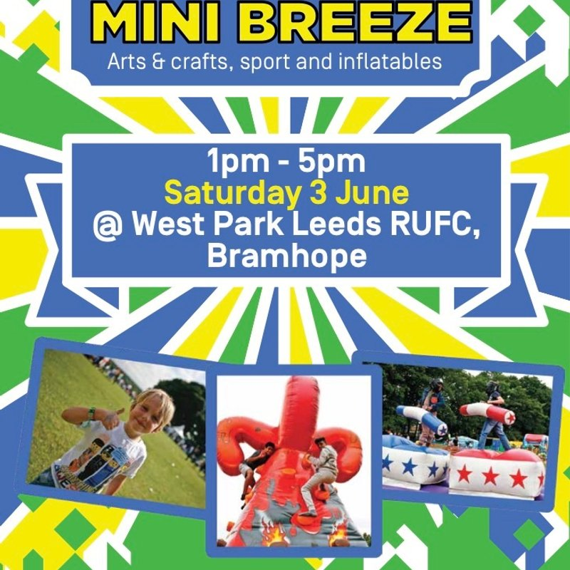 Mini Breeze Session - 3rd June - Arts & Crafts, Inflatables and Sports