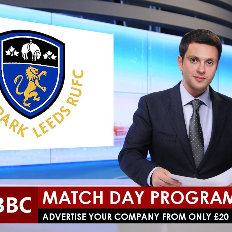 Match Day Programme Sponsorship - starting at just £20 with free facebook postings and clubhouse screens.