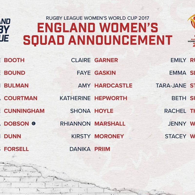 Four West Park Ladies Make England Rugby League World Cup Squad