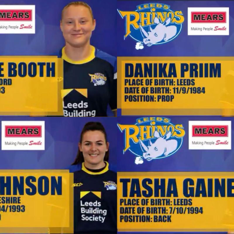 Four West Park Leeds Ladies sign for Super League Leeds Rhinos Ladies
