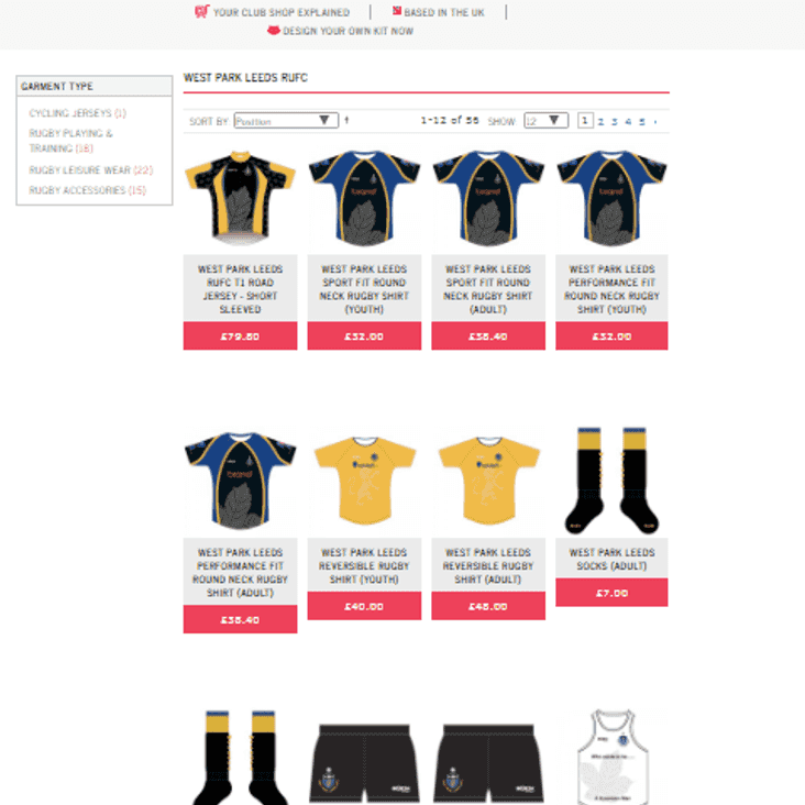 New Online Club Shop - with Click & Collect/free delivery from www.tinyurl.com/wplshop